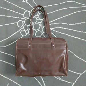 BUXTON Vegan Leather Laptop Travel Bag Brown